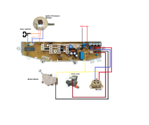 Samsung Washing Machine 4 Button Pcb Connection Diagram Dc92 00389a Primax Channel