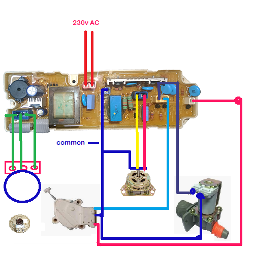 Fully Automatic Washing Machine Wiring Diagram Lg 4 Button